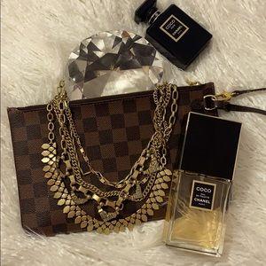Stella & Dot multi gold rhinestone necklace